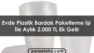 Evde Plastik Bardak Paketleme İşi İle Aylık 2.000 TL Ek Gelir